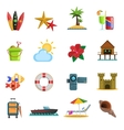 Beach Icons Flat vector image vector image