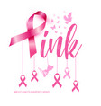 breast cancer awareness concept pink vector image vector image