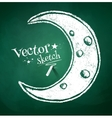 Chalk drawing of crescent vector image vector image