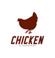 chicken logo icon logo chicken bird icon symbol vector image