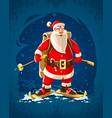 christmas santa claus merry vector image vector image