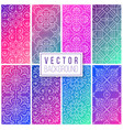 collection ethnic floral seamless pattern with vector image