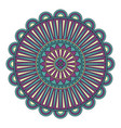 color floral mandala vector image vector image