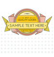 colored outline retro banner on gradient vector image