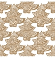 cookie in the form of a Christmas tree pattern vector image vector image