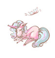 cute unicorn and butterfly sweet dreams print vector image