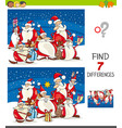 differences game with santa claus vector image vector image