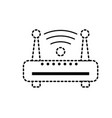 dotted shape router wifi connection network vector image vector image