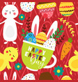 easter bright seamless pattern vector image