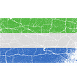 Flag of Sierra Leone with old texture vector image