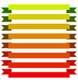 flat banner elements on white various versions vector image vector image
