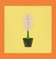 flat shading style plant hyacinthus vector image vector image