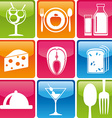 food icons color vector image vector image
