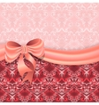 Gentle pink background with Victorian pattern vector image vector image