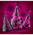 Goth party hats on pink vector image vector image