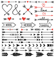 hand-drawn arrows set vector image