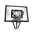 Hand sketch basketball hoop vector image