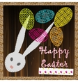 happy easter background eggs vector image vector image