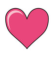 heart shape icon vector image vector image