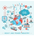 Heavy and power industry infographics template vector image vector image