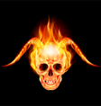Horny devil vector image