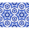 kaleidoscope white blue star flower vector image vector image