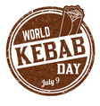kebab day sign or stamp vector image vector image