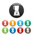 kitchen blender icons set color vector image vector image