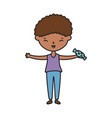 little boy infant cartoon character vector image