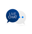 live chat speech bubbles concept stock vector image vector image