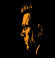 man portrait silhouette in backlight vector image vector image