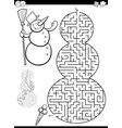 maze or labyrinth game vector image vector image