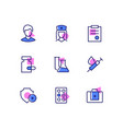 medicine and healthcare - line design style icons vector image