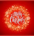 merry christmas lettering in glitter frame vector image vector image
