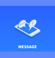 message icon symbol vector image