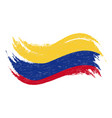 national flag of colombia designed using brush vector image vector image