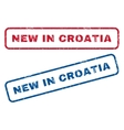 New In Croatia Rubber Stamps vector image vector image
