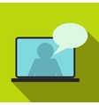 Online chat icon flat style vector image vector image