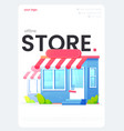 online store flyer great design for any vector image vector image