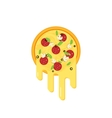 Pizza with flowing cheese vector image vector image