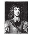 prince rupert of the rhine vintage vector image vector image