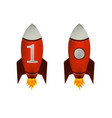 red rockets isolated vector image vector image