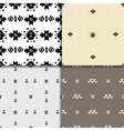 Seamless ethnic pattern set vector image