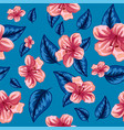 seamless pattern tropical pink flowers vector image