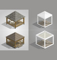 set of four pavilions vector image vector image