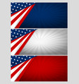 set of usa banner abstract background design vector image vector image