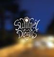 Summer dreams vector image vector image