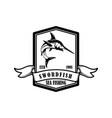 swordfish fishing trip emblem template vector image vector image