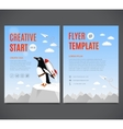 template design flyer brochure cover vector image vector image