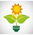 think green ecology icons vector image vector image